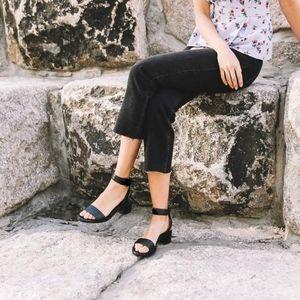 Frye Brielle Back Zip Leather Sandals